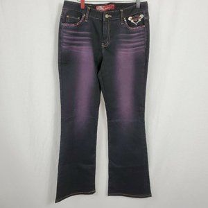 G Jon Women's Jeans Size 30 Bootcut Mid Rise Embellished Pockets Bedazzled